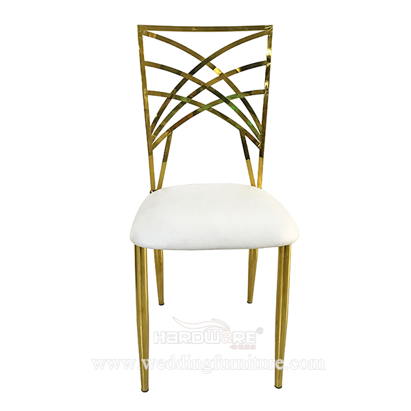 Hotel Hall Furniture Stackable Stainless Steel Chair For Event