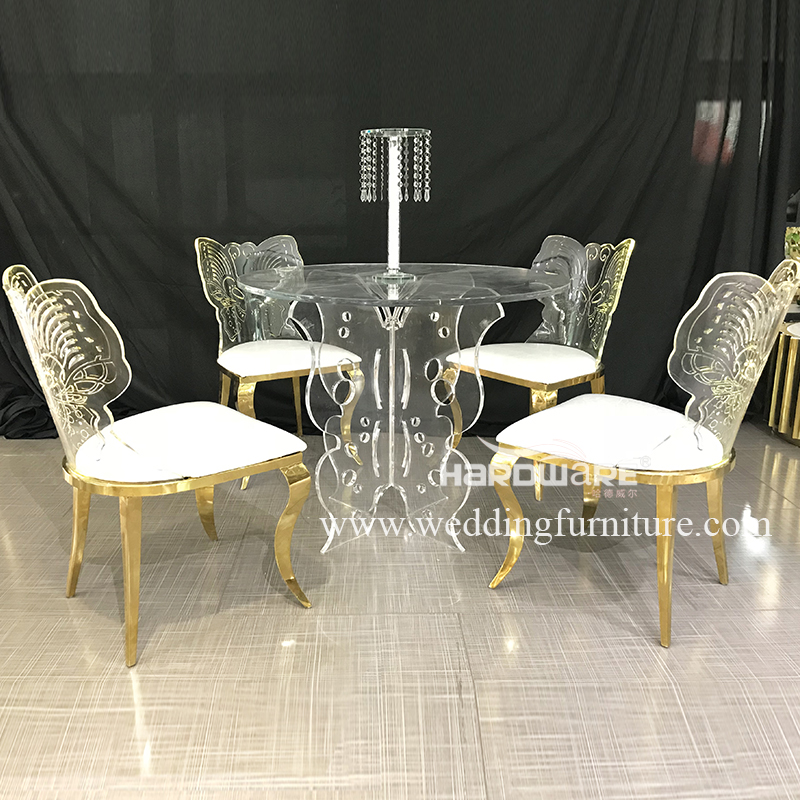 Butterfly design base transparent acrylic event table