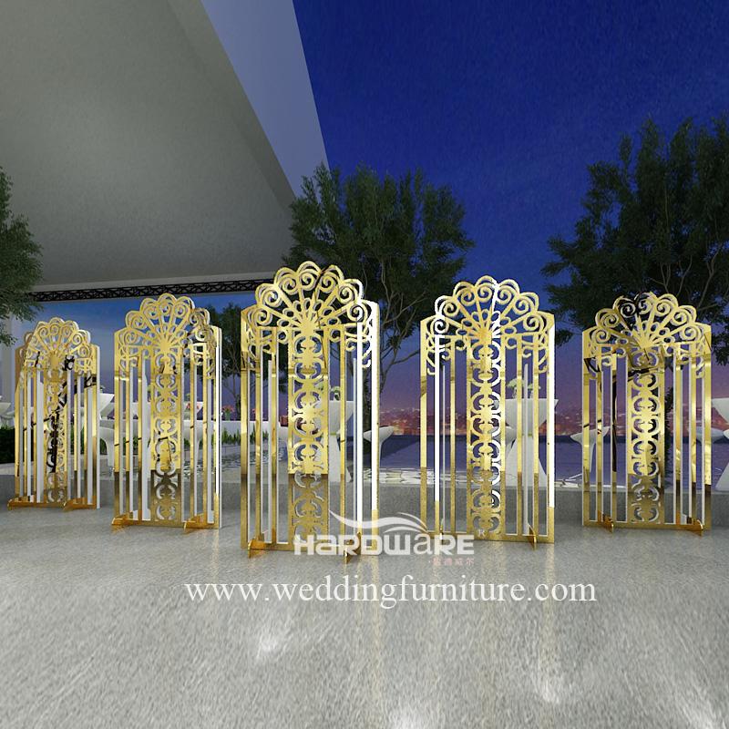 Acrylic and pvc custom luxury shape crown backdrop stage