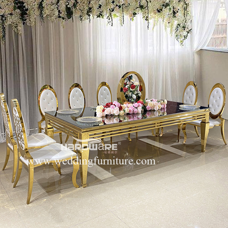 Table hot style stainless steel luxury hall table