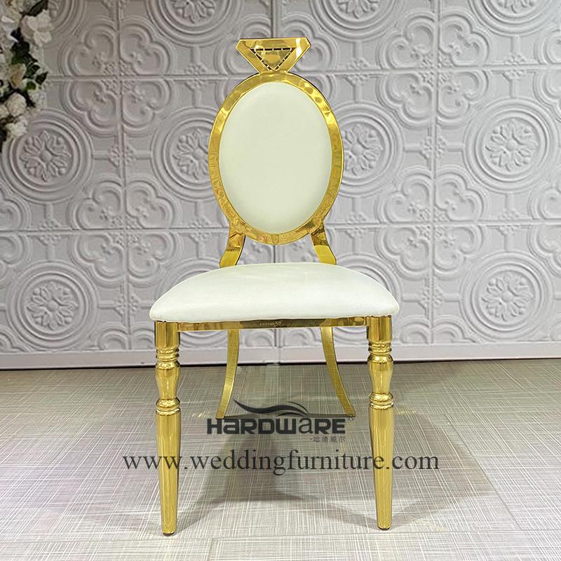 Luxury event party restaurant gold stainless steel event chair