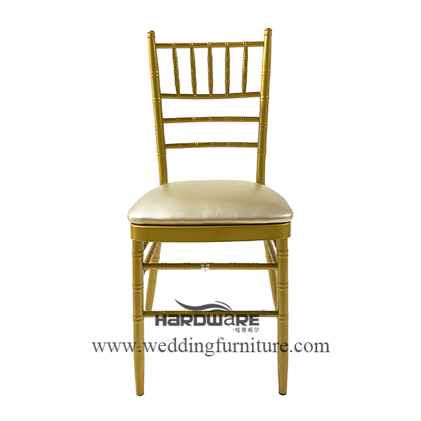 Tiffany gold iron metal wedding party event chair