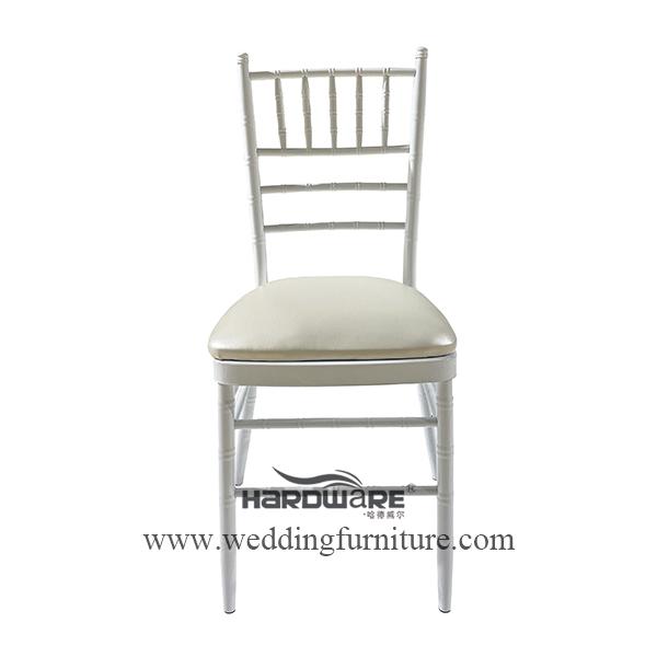 White iron tiffany chiavari hotel event chair