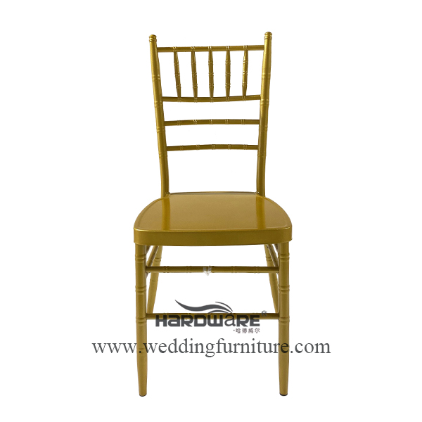 Gold metal bamboo stackable banquet chair