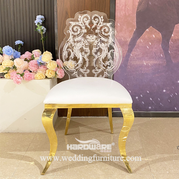 Stainless Steel Legs Banquet Clear Acrylic Chair Wedding