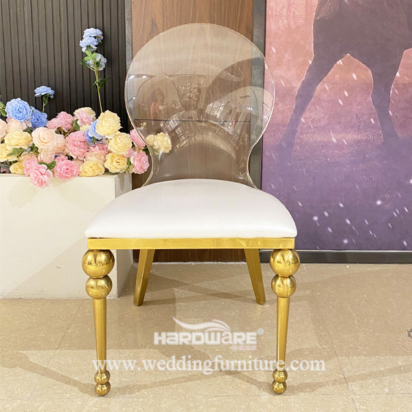 Wedding Banquet Clear Acrylic Chair For Sale