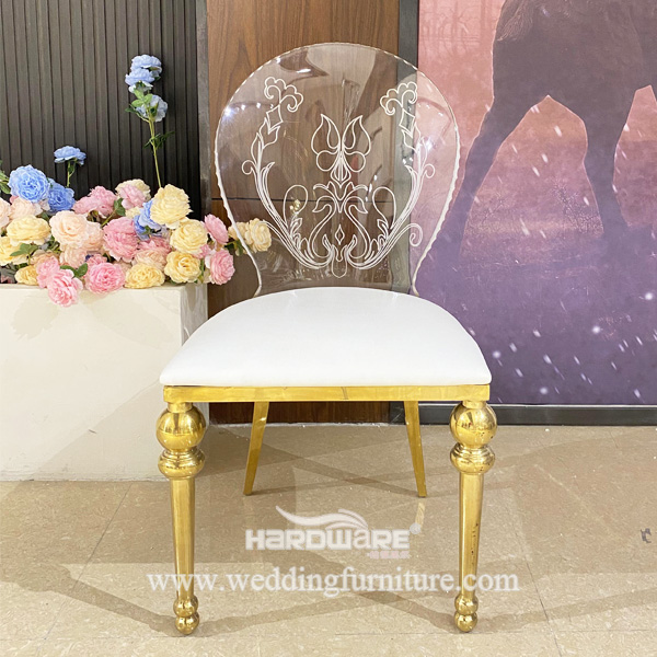 Metal Legs Transparent Clear Acrylic Dining Chair