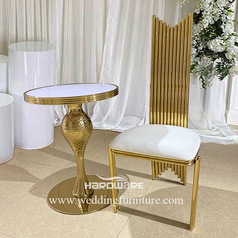 wholesale luxury gold stainless steel royal chair