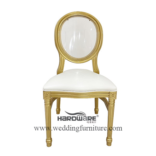 Clear acrylic backrest pp wedding event chair