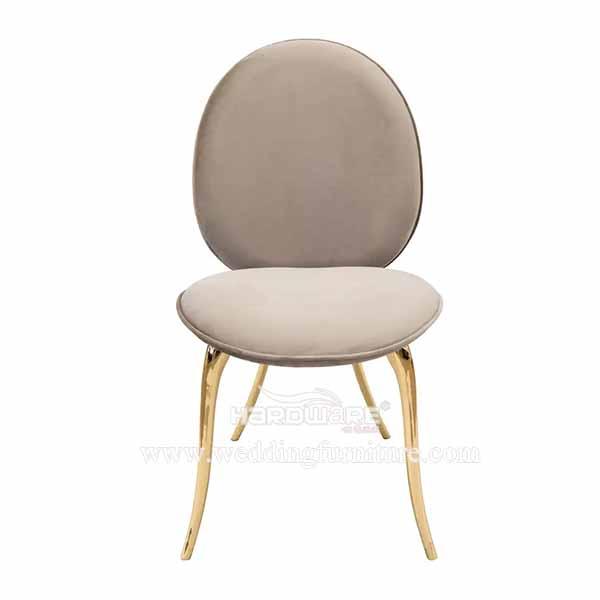 Modern nordic velvet seat dining room chair