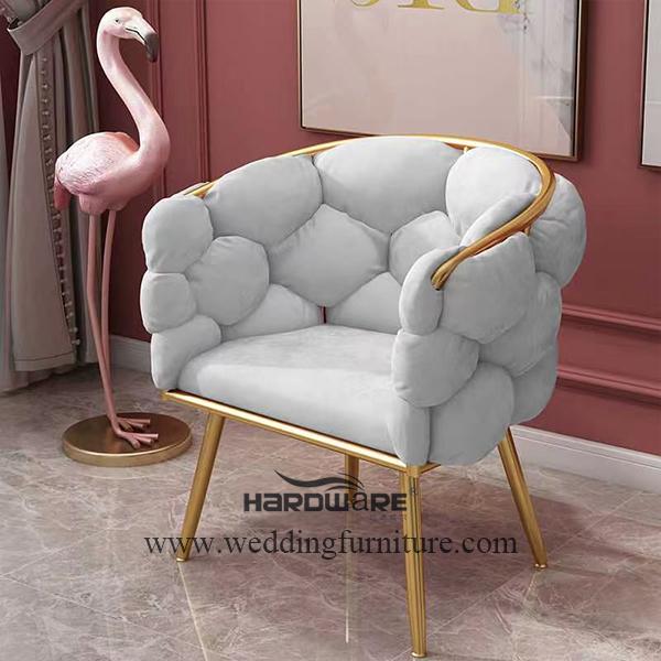Iron frame Bubble dinner chair