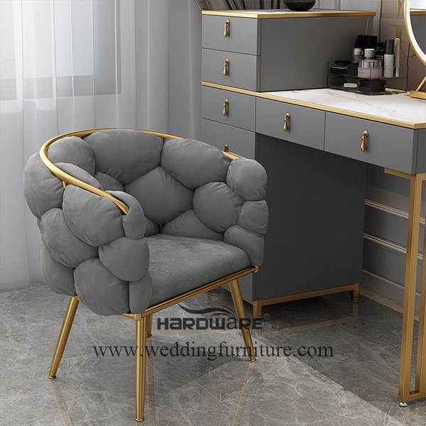 Modern nordic bedroom bubble dressing chair