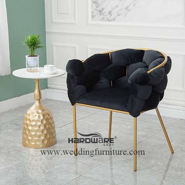 Living room velvet bubble leisure chair